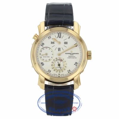 Vacheron Constantin 18k Yellow Gold Malte Dual Time Regulator 42005000R9068 PLCJ0U - Beverly Hills Watch Company