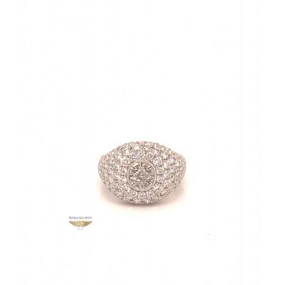 Naira & C La Scala Diamond Signet White Gold Ring KMQCTJ - Beverly Hills Watch and Jewelry Company