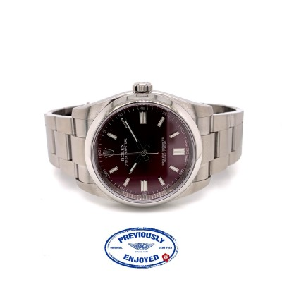 Rolex Oyster Perpetual 36mm Stainless Steel Grape Dial 116000 MZJ2TE  - Beverly Hills Watch Company