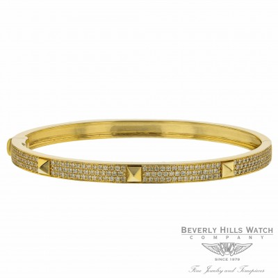 Naira & C  Poosh Bangle Bracelet Yellow Gold and Diamonds 6V0CVX - Beverly Hills Watch Company