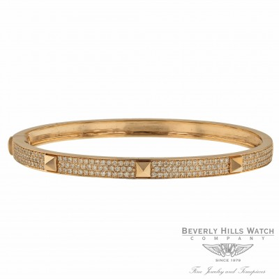 Naira & C  Poosh Bangle Bracelet Rose Gold and Diamonds 6V0CVX - Beverly Hills Watch Company
