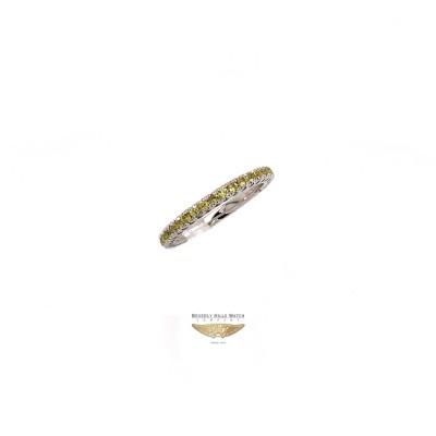 NAIRA & C YELLOW SAPPHIRE STACKABLE ETERNITY BAND WHITE GOLD 2664