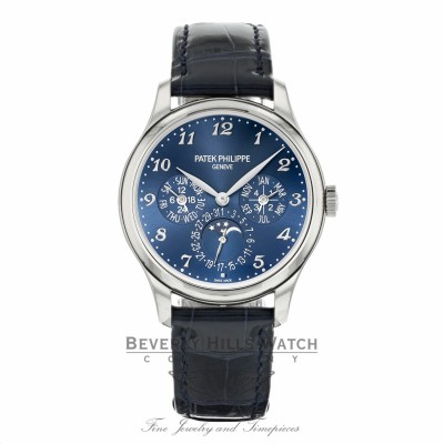Patek Philippe 39mm Grand Complication Perpetual Calendar 18k White Gold 5327G-001 X5PT0F - Beverly Hills Watch