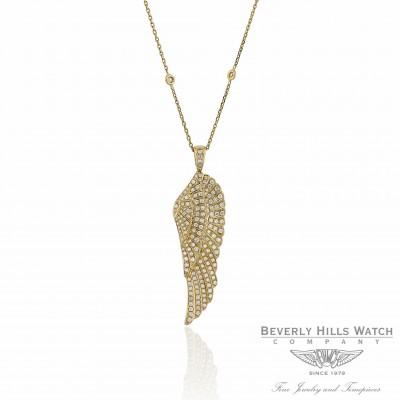 Angel Wing Pendant Yellow Gold and Diamonds Naira & C UMTJLV - Beverly Hills Watch Company