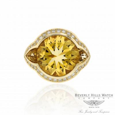 Cats Eye Diamond Citrine Ring Naira & C AMKE2A - Beverly Hills Watch