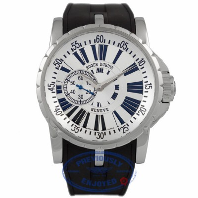 Roger Dubuis Excaliber 45MM Stainless Steel Silver Dial EX45 77 9 3.7AR 2GGXD4 - Beverly Hills Watch Company