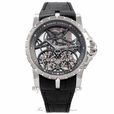 Roger Dubuis Excalibur Double Tourbillon Millesime 45MM Platinum EX45-01SQ-80-00/SE000/B DUZYYP - Beverly Hills Watch Company Watch Store
