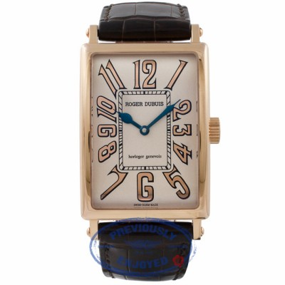 Roger Dubuis Much More Rose Gold Cream Dial Brown Alligator Strap M345751.62/17 HEPW63 - Beverly Hills Watch Store