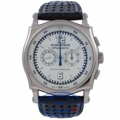 Roger Dubuis Sympathie 18K White Gold Case Manual Wind Chronograph 46MM S46560 BQVVPX - Beverly Hills Watch Company Watch Store