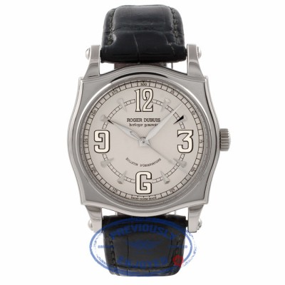 Roger Dubuis Sympathie Bullletin d'Observation White Ivory Dial Black Leather Strap S46 57 05.8 FPHYJE - Beverly Hills Watch Store