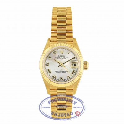 Rolex Datejust 26mm Yellow Gold President Mother of Pearl Dial 69178 QMJL13