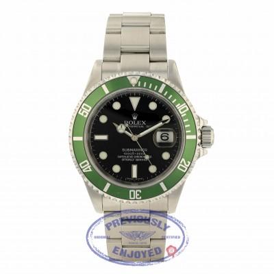 "Rolex Submariner 50th Anniversary Green Bezel ""Kermit"" Black Dial 16610 TUUFJN"