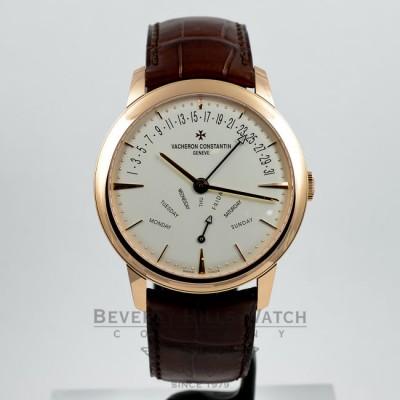 Vacheron Constantin Patrimony Bi-Retrograde 18K Rose Gold Watch 86020-000R-9239 Beverly Hills Watch Company Watches