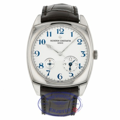 Vacheron Constantin Harmony Dual Time 40mm White Gold 7810S/000G-B050 ZKFLZL - Beverly Hilss Watch Company