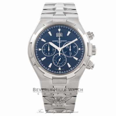 Vacheron Constantin Overseas 42MM Stainless Steel Blue Dial 49150/B01A-9745 LSZRWH - Beverly Hills Watch Company Watch Store