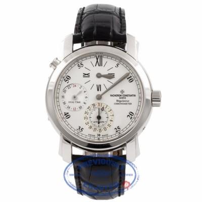 Vacheron Constantin Malte Dual Time Regulator White Gold 42005/000G 4KAGLP - Beverly Hills Watch Company Watch Store