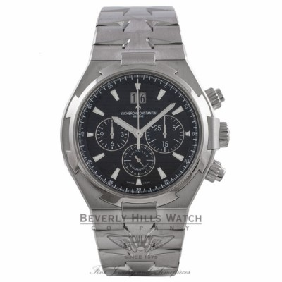 Vacheron Constantin Overseas Chronograph Black Dial Automatic Stainless Steel on Bracelet 49150/B01A-9097 JTYPVC - Beverly Hills Watch Store