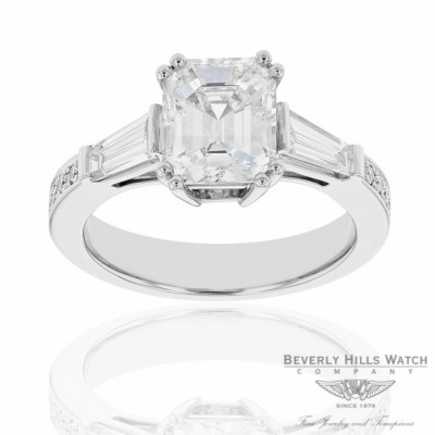 Designs by Naira Diamond Engagement Platinum Ring WU2NM8 WU2NM8 - Beverly Hills Jewelry Company