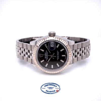 Rolex Datejust 28mm Fluted Bezel Dark Grey Jubilee 279174 XU8TMX - Beverly Hills Watch Company