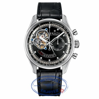 Zenith Chronomaster Open Power Reserve Black Dial Automatic 03.2080.4021/21.C496 YEN44X - Beverly Hills Watch