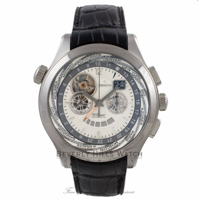 Zenith Grande Class Traveller Multicity 46MM Gents Automatic Stainless Steel 03.0520.4037/01C 19208 - Beverly Hills Watch Company Watch Store