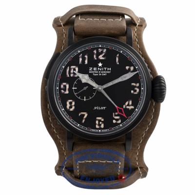 Zenith Pilot Montre d'Aeronef Type 20 GMT 48MM Titanium Black Dial 50 hour Power Reserve 96.2431.693/21.C738 887E14 - Beverly Hills Watch Company Watch Store