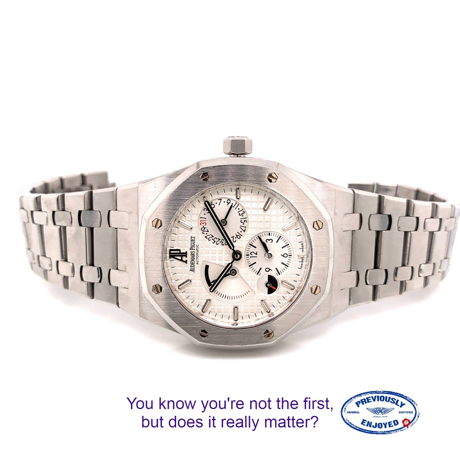 AUDEMARS PIGUET ROYAL OAK DUAL TIME POWER RESERVE 39MM STAINLESS STEEL SILVER DIAL 26120ST.OO.1220ST.01 0LLQCK