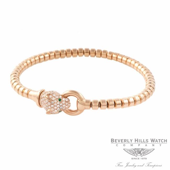 Panther Bracelet 18k Rose Gold Diamond Head 3WXJQC - Beverly Hills Watch Company Jewelry