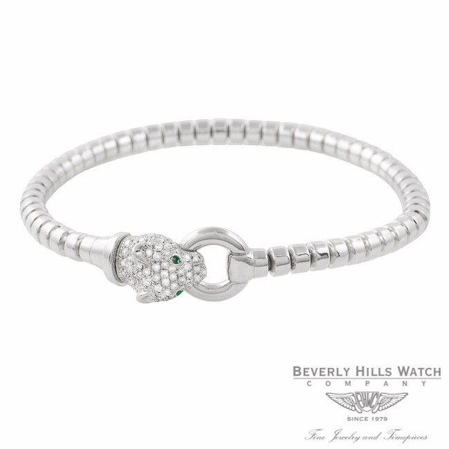 Panther Bracelet 18k White Gold Diamond Head 7U0PHE - Beverly Hills Watch Company Jewelry