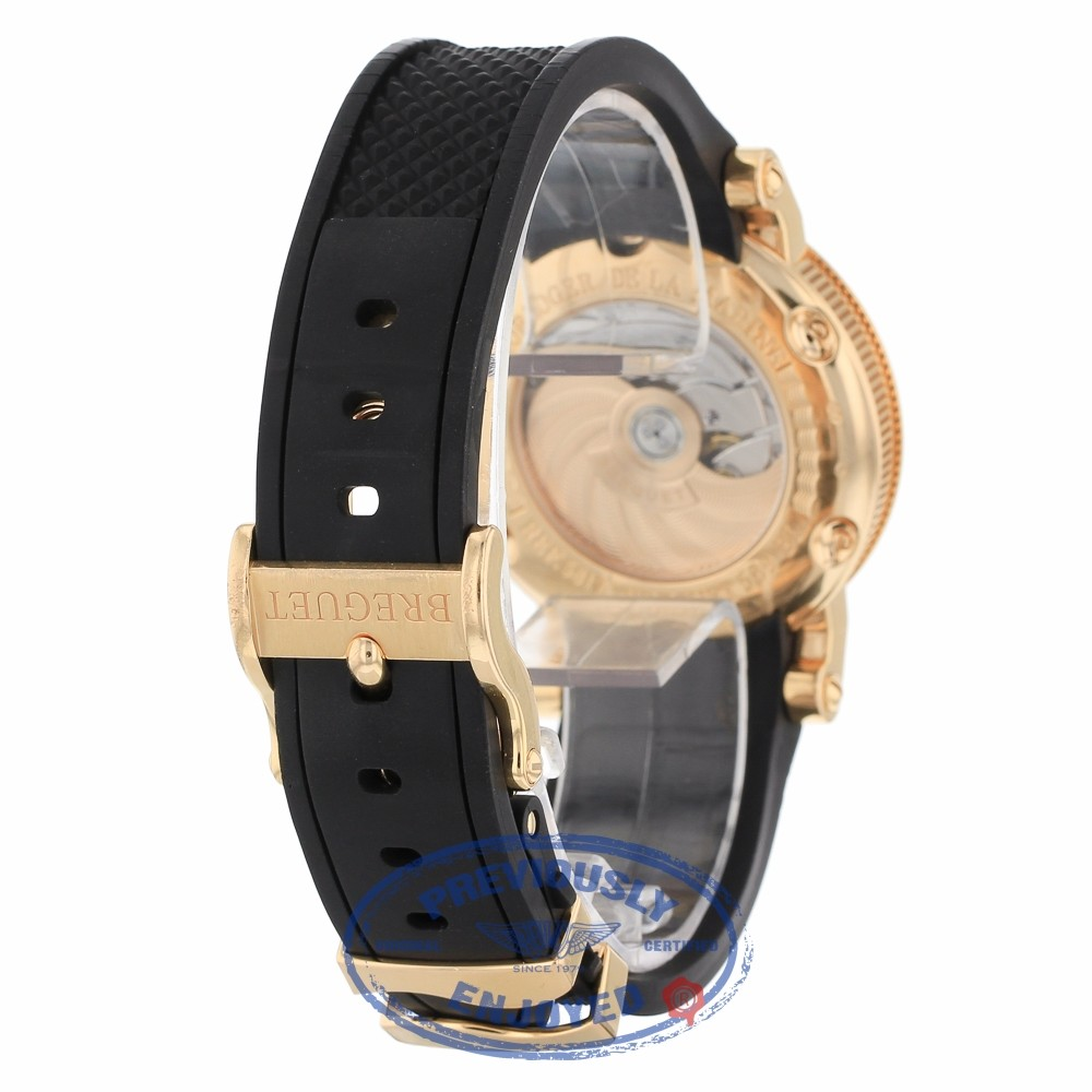 san francisco d473a 8d570 Breguet Marine Automatic Silver Dial Black Rubber 5817br/z2 ...