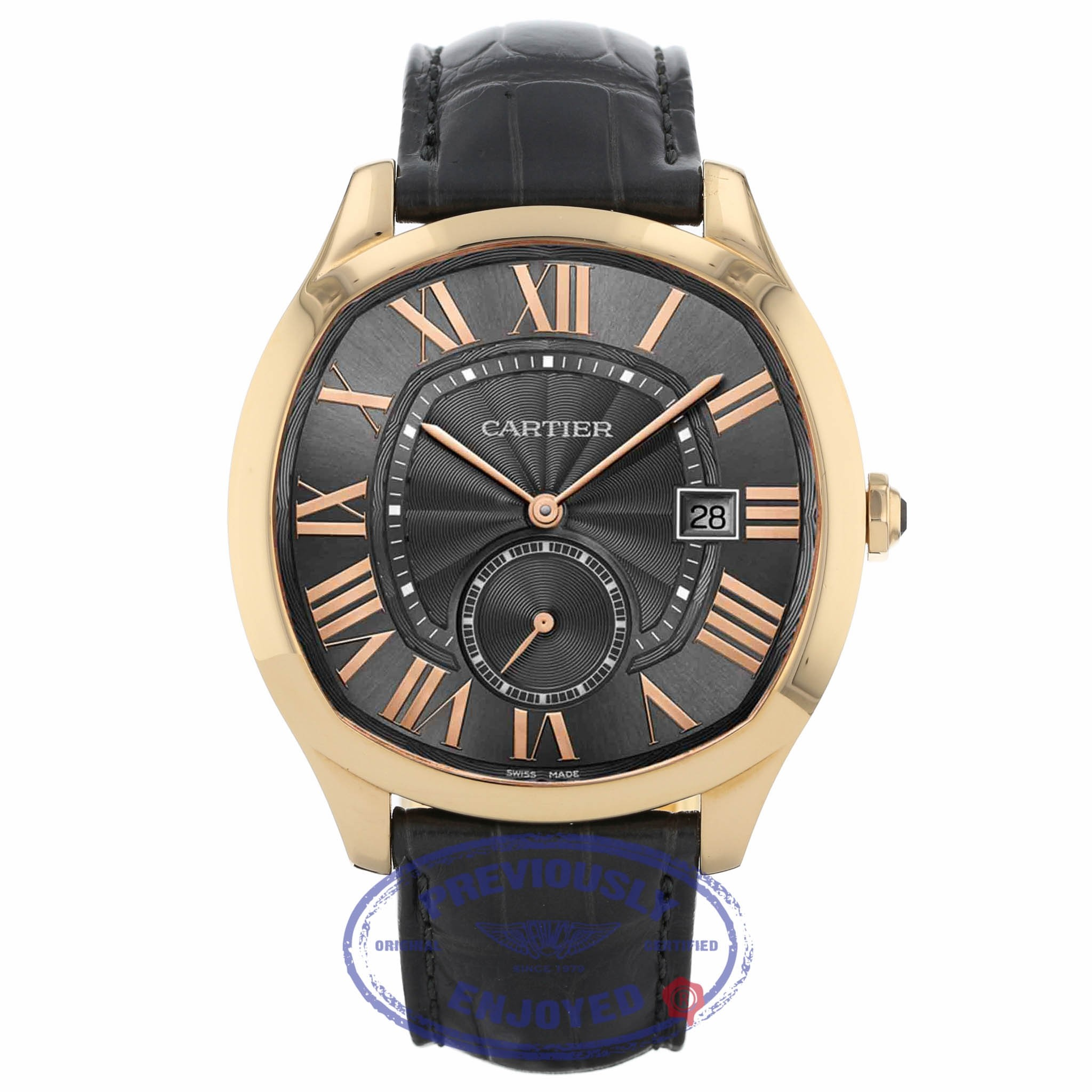 Cartier Drive Automatic 41mm 18K Rose Gold Slate Grey Dial Rose Gold WGNM0004 E7KD85 - Beverly Hills Watch