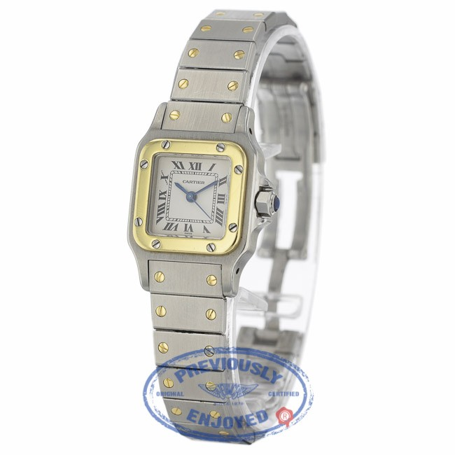 374b076c439c Cartier Santos Galbee Ladies 24mm Stainless Steel 18k Yellow Gold JR1MF9