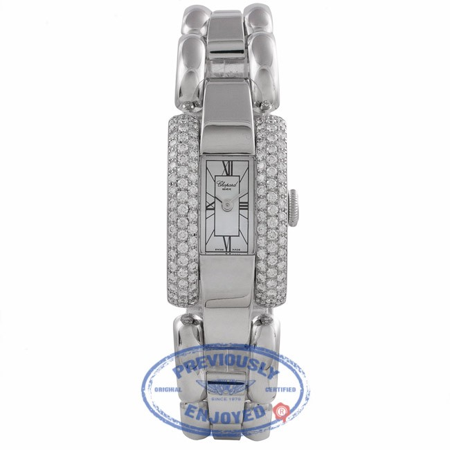 Chopard La Strada Ladies 18k White Gold Quartz Diamond Case White Dial 41/6547 L1FZQT - Beverly Hills Watch Company Watch Store