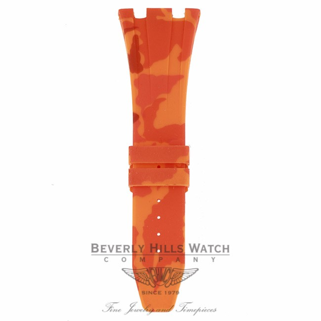 Horus Orange Camouflage Rubber Audemars Piguet 42mm Strap 0WPFE6 0WPFE6 - Beverly Hills Watch Company
