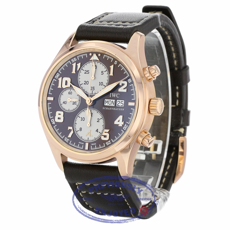 80bcd39f7e7c IWC Pilot Antoine de Saint Exupéry Automatic 42mm 18k Rose Gold Bronze Dial  IW371711 2Q4MF6