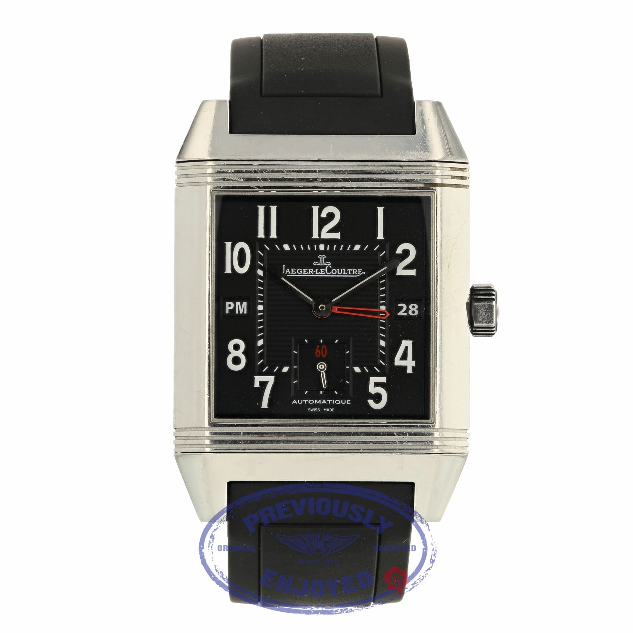 Jaeger LeCoultre Squadra Reverso Hometime Q7008620 J7489K - Beverly Hills Watch Company