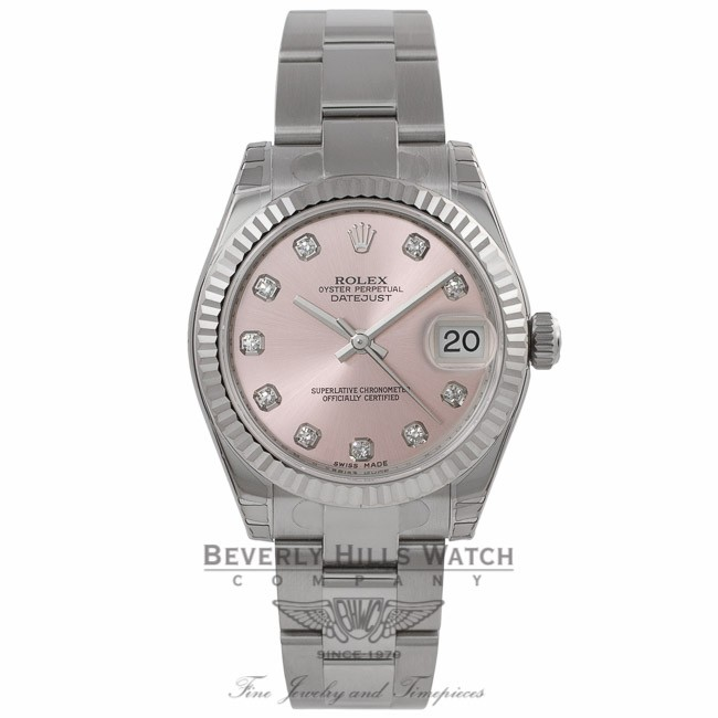Rolex Datejust 31MM Stainless Steel 18k White Gold Fluted
