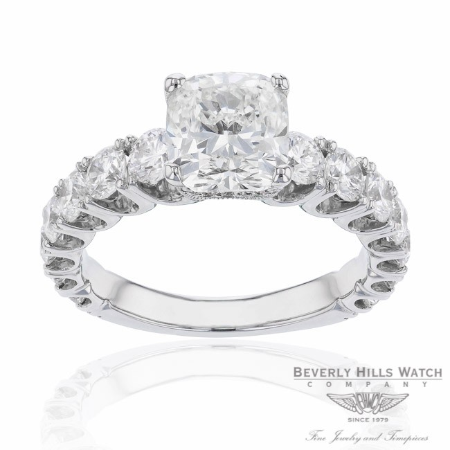 Cushion Cut Diamond Engagement Ring By Naira & C V7VL0A  - Beverly Hills Jewelry Company