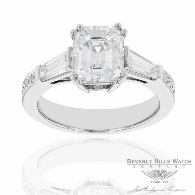 Designs by Naira Diamond Engagement Platinum Ring WU2NM8 WU2NM8 - Beverly Hills Jewelry Company