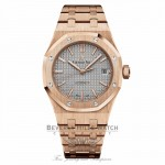 Audemars Piguet Royal Oak Nickel Grey Dial 18 Carat Rose Gold Automatic 15450OR.OO.1256OR.01 - Beverly Hills Watch