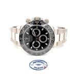 Rolex Daytona Ceramic and Stainless Steel Black Dial 116500LN AQDUZA - Beverly Hills Watch Company