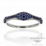 18k White Gold Blue Sapphire Ring XYBZEZ - Beverly Hills Watch