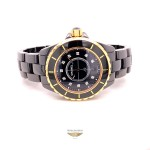 Chanel J12 33mm Rose Gold and Black Ceramic Diamond Dial H2543 2VM943 - Beverly Hills Watch Company