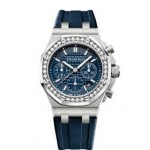 Audemars Piguet Offshore 37mm Diamond Bezel Blue Dial 26231ST.ZZ.D027CA.01 3MEKXH - Beverly Hills Watch Company