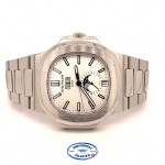 Patek Philippe Nautilus Annual Calendar Stainless Steel Silver Dial 5726/1A-010 2ZV9FJ - Beverly Hills Watch Company