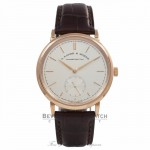 A. Lange & Sohne Saxonia 18K Rose Gold Automatic Watch 380.032 Beverly Hills Watch Company Watches