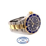 Rolex Submariner Classic 40mm Yellow Gold & Stainless Steel Blue Dial Watch 16613 ADZAMZ - Beverly Hills Watch company