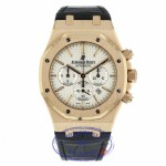Audemars Piguet Royal Oak Chronograph 41MM 18k Rose Gold Silver Dial 26320OR.OO.D088CR.01 08JJ5A - Beverly Hills Watch Company