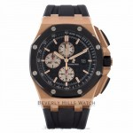 Audemars Piguet Royal Oak Offshore Rose Gold Black Dial Ceramic Bezel 26401RO.OO.A002CA.01 P6JEVV - Beverly Hills Watch Company