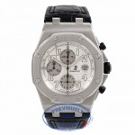 Audemars Piguet Royal Oak Offshore Stainless Steel Bracelet Silver Dial Chronograph Watch 26020ST.OO.D001IN.02.A FUT5DX - Beverly Hills Watch Company Watch Store